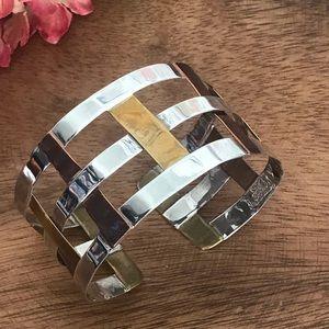 Robert Lee Morris Woven Cuff Bracelet Sterling